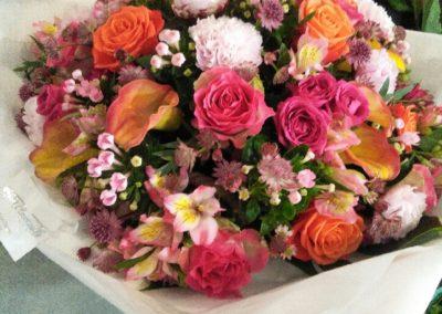 panier fleurs indie chic
