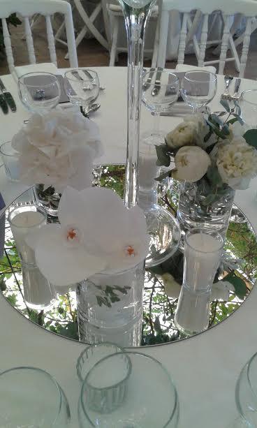 fleurs mariage tables
