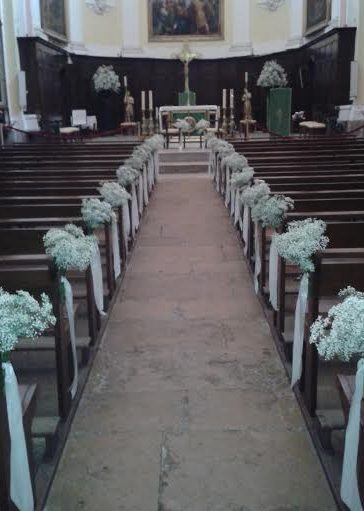 fleurs mariage église